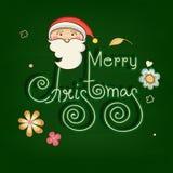Projeto de cartão para celebrações do Feliz Natal Fotos de Stock