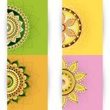 Projeto de cartões do ornamento floral Fotografia de Stock