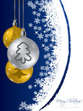Projeto de cart?o do Natal com decora??es Imagem de Stock Royalty Free
