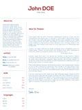 Projeto de carta de apresentação simples para resumos ilustração do vetor