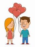 Projeto de cartão do amor Imagem de Stock Royalty Free