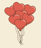 Projeto de cartão do amor Imagens de Stock