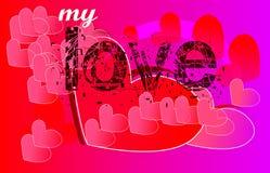 Projeto de cartão do amor Foto de Stock Royalty Free