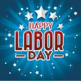 Projeto de cartão do Dia do Trabalhador, ilustração do vetor Fotos de Stock Royalty Free