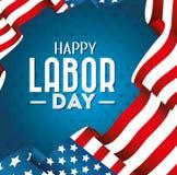 Projeto de cartão do Dia do Trabalhador, ilustração do vetor Fotografia de Stock