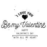 Projeto de cartão feliz do dia do ` s do Valentim Fotografia de Stock