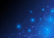 Projeto de conceito abstrato da rede Fotografia de Stock