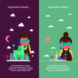 Projeto de conceito aumentado da realidade Imagem de Stock Royalty Free