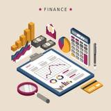 Projeto de conceito da finança Fotografia de Stock