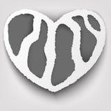 Projeto de conceito de papel rasgado coração Ilustração Stock