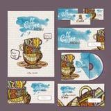 Projeto de conceito do café Template corporativo para artes -finais do negócio Imagens de Stock