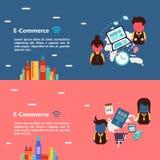 Projeto de conceito do comércio eletrônico Imagens de Stock