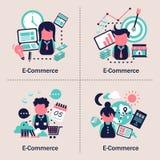 Projeto de conceito do comércio eletrônico Fotografia de Stock Royalty Free