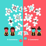 Projeto de conceito do comércio eletrônico Imagens de Stock Royalty Free