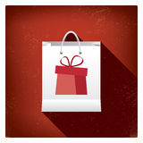 Projeto de conceito do saco de compras das vendas do Natal para Fotos de Stock Royalty Free
