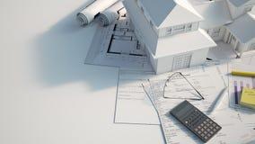Projeto de construção clássico da casa ilustração stock