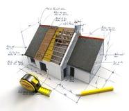 Projeto de construção corrente ilustração royalty free