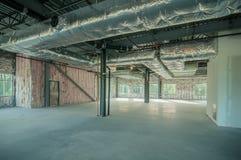 Projeto de construção da armação de aço inacabado Fotos de Stock Royalty Free