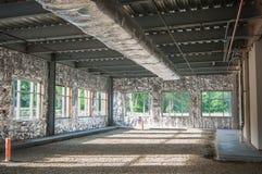 Projeto de construção da armação de aço inacabado Fotos de Stock