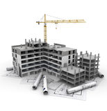 Projeto de construção em andamento ilustração royalty free