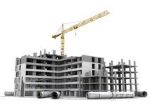 Projeto de construção em andamento ilustração do vetor