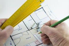 Projeto de construção Imagem de Stock Royalty Free