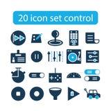 Projeto de controle ajustado do ícone foto de stock