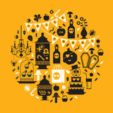 Projeto de Dia das Bruxas Projeto de Dia das Bruxas Fotografia de Stock