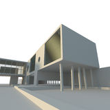 Projeto de edifício moderno Fotos de Stock Royalty Free