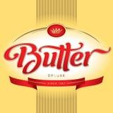 Projeto de empacotamento da manteiga () Foto de Stock