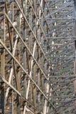 Projeto de feixes de madeira A interseção das linhas Muito Fotografia de Stock Royalty Free