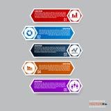 Projeto de Infographic com 5 porções, etapas ou processos EPS10 Fotografia de Stock