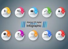 Projeto de Infographic Lista de 10 artigos Ícone do mercado Foto de Stock Royalty Free