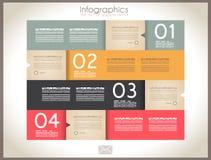 Projeto de Infographic - Tag do papel original ilustração do vetor