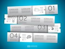 Projeto de Infographic - Tag do papel original Fotografia de Stock Royalty Free