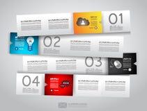 Projeto de Infographic - Tag do papel original Foto de Stock