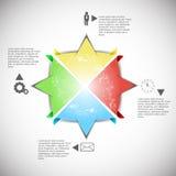 Projeto de Infographics Fotografia de Stock Royalty Free