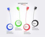 Projeto de Infographics para a apresentação Imagem de Stock Royalty Free