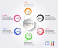 Projeto de Infographics para a apresentação Imagens de Stock Royalty Free