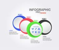 Projeto de Infographics para a apresentação Foto de Stock