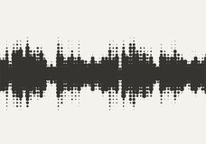 Projeto de intervalo mínimo da onda sadia do vetor Fotografia de Stock Royalty Free