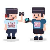 Projeto de jogos de vídeo Fotografia de Stock
