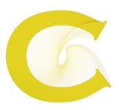 Projeto de letra de C Fotografia de Stock