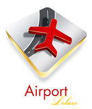 Projeto de luxe do logotipo da companhia do aeroporto Fotografia de Stock Royalty Free