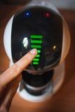 Projeto de máquina moderno do café da alto-tecnologia touchscreen imagem de stock royalty free