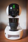 Projeto de máquina moderno do café da alto-tecnologia touchscreen xícara de café à moda imagem de stock royalty free