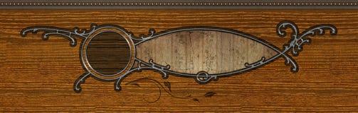 Projeto de madeira embutido sumário Ilustração Royalty Free