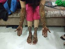 Projeto de Mahendi imagens de stock