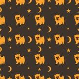 Projeto de matéria têxtil, papel de parede com cães Ilustração do Vetor