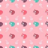 Projeto de matéria têxtil, papel de parede com esquilos Ilustração Royalty Free